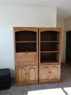 Bookcase Wall Unit Solid Wood
