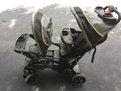 sit n stand double stroller baby trend