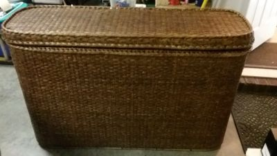 Wicker sofa/console table