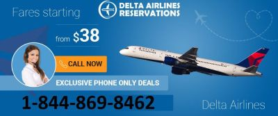 Delta Airlines Reservation | Offer 70% off | Dial 1-844-869-8462