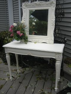 shabby chic vanity / hall table