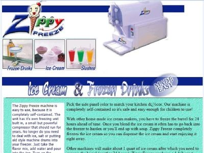 Zippy Freeze Frozen Drink Maker