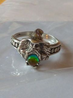 Vintage Shubes Inc wizard/crystal ball ring