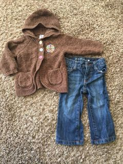 18 month- Guess jeans and adorable boutique sweater