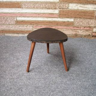 Mid Century Modern Plant Stand Wood 3 Legs