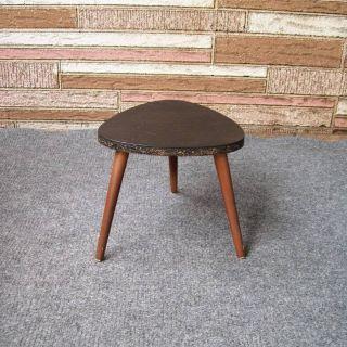 Mid Century Modern Plant Stand Wood 3 Legs