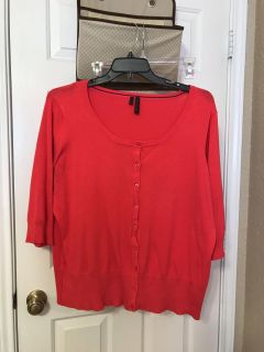 Women's sweater. Coral color. Maurice's size 2. EUC. $5