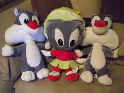 Looney Tunes baby Sylvester the Cat n marvin the martian stuffed toys