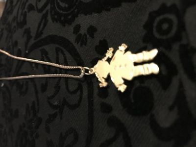 My baby girl charm necklace