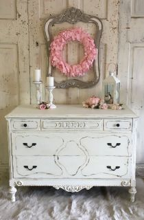 Antique Chest- white