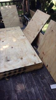 6 Sheets of NEW 4 X 8 Ft. 3/4 Inch Plywood Plus Lots of Extras