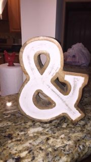 Cute Wooden & Sign-10 y all