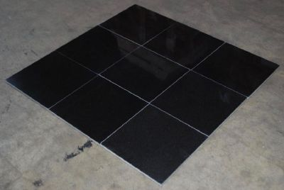 Absolute Black Polished Granite Tile | Absolute Black Granite Tile - Stone & Tile Shoppe