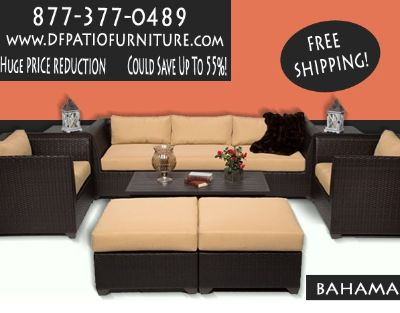 FREE SHIPPING -- 2 For 1 Special -- Wicker PATIO Furniture HIGH END, GREAT PRICE