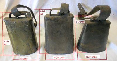 Vintage Cow Bells and School Bell