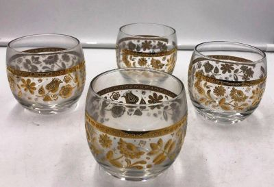 Mid Century Culver Roly Poly tumblers