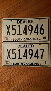 Dealer license plates sequence