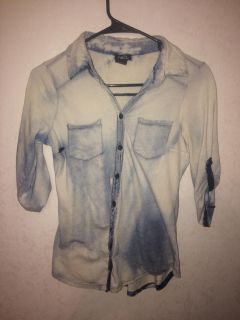 rue21 Button-Up Washed Out Top