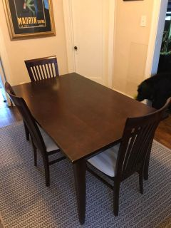 Wood table and 5 chairs