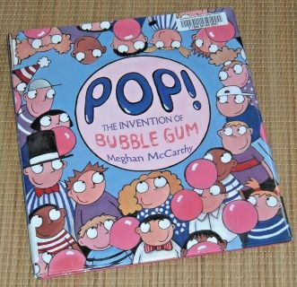 POP The Invention of Bubble Gum Hard Cover Book w Dust Jacket Ages 4-8 Simon & Schuster Vintage ...