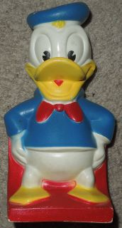 VINTAGE Walt Disney DONALD DUCK BANK FIGURINE by PLAY PAL PLASTICS INC