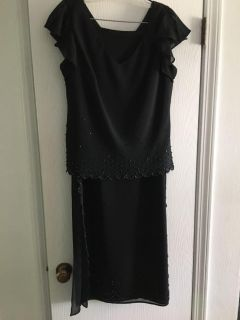 Formal dress. Size M. Long skirt and top with crystal trim.