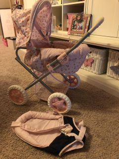Corolle Doll Carriage and Baby Carrier