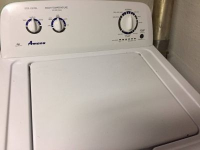 amana washer and dryer (gas) 2 years old