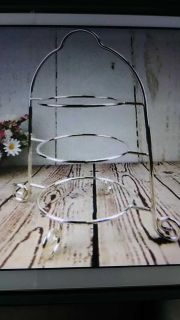 3-Tier Plate Stand w/Plates