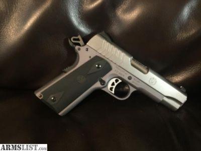 For Sale: Ruger SR1911 9mm Lightweight Commander 4.25 For Sale