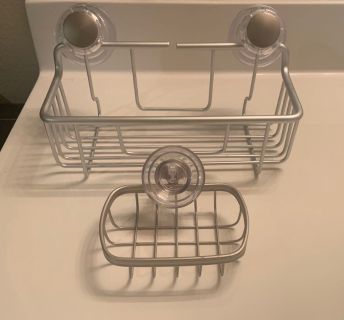 Better Homes and Gardens suction deep shower caddy and soap dish