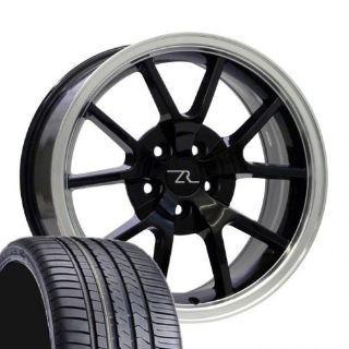 """Sell 18"""" Black w Lip Mustang FR500 Wheels Tires (4) 18x9 Rims 245/40/18 Winrun 94-04 motorcycle in Katy, Texas, United States"""