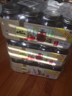 New in box 12 regular mouth pint jars. I have three cases