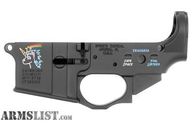 For Sale: Spike's Tactical Snowflake Color-filled AR-15 Lower