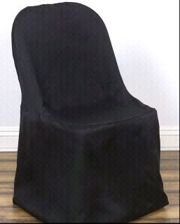New 250 Black Folding Chair Covers