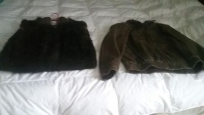 Ostrich Leather Jacket w/zip-in and out mink lining