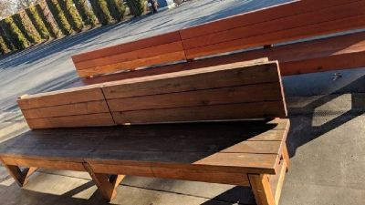 Misc Custom Built Redwood Benches RTR# 8111401-03,11