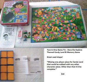 TWO-IN-ONE GAME TIN-DORA THE EXPLORER