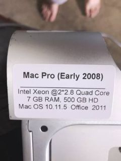 Lot of 2 MacPro Towers with Intel Xeon Processors