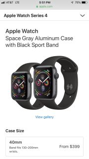 Apple Watch Series 4 and charging station BRAND NEW
