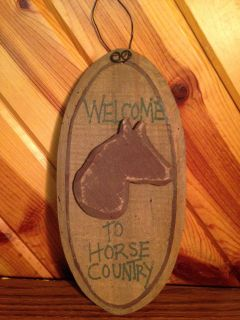 New - Welcome to Horse Country Wooden Sign