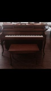 Krakauer Brothers Upright Console Piano 1980