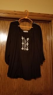 Black flowy top from Maurices