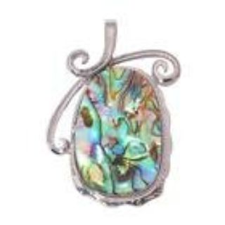 New - Natural Abalone Shell Pendant (Comes with a chain)