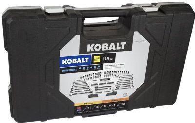 Kobalt Universal 115-pc SAE & Metric Matte Mechanic s Tool Set - BRAND NEW