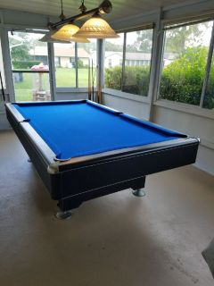 Beautiful Black Laminate Pool Table