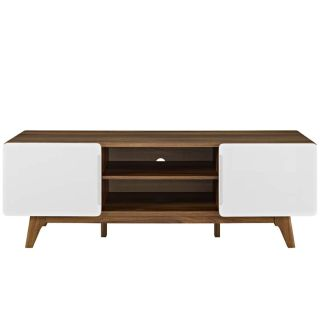 """New 59""""TV Stand Cabinet Natural or Walnut Finishes"""