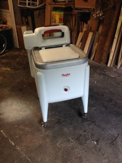 vintage maytag washer / ice box/cooler