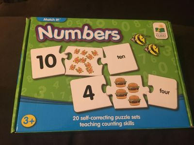 Numbers Learning Puzzles Counting, Number & Number Word Recognition Very Condition
