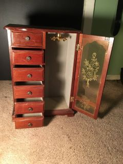 very well sized jewelry cabinet
